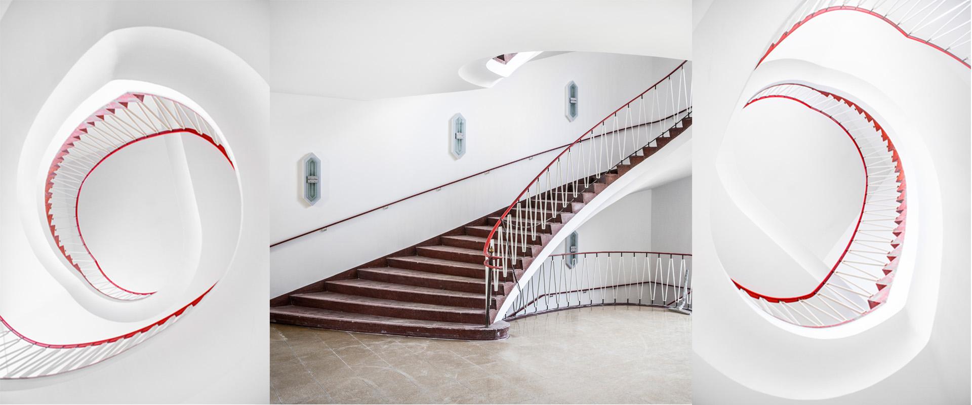 Interior Design Fotografie Treppenaufgang 50er Jahre