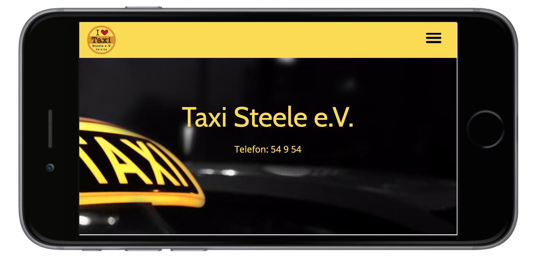 grafik, design, gestaltung, website, responsive, taxiunternehmen, taxi, taxi steele, taxi essen, medien