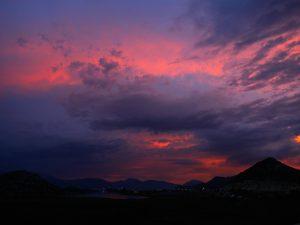 Sonnenuntergang, sunset, kratien, croatia, wolken, sky, red sky, clouds, drama, free stock, license free, images, fotografie, photo