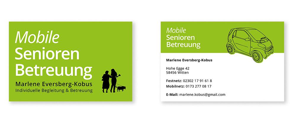 Geschäftsausstattung Flyer Visitenkarten Für Mobile