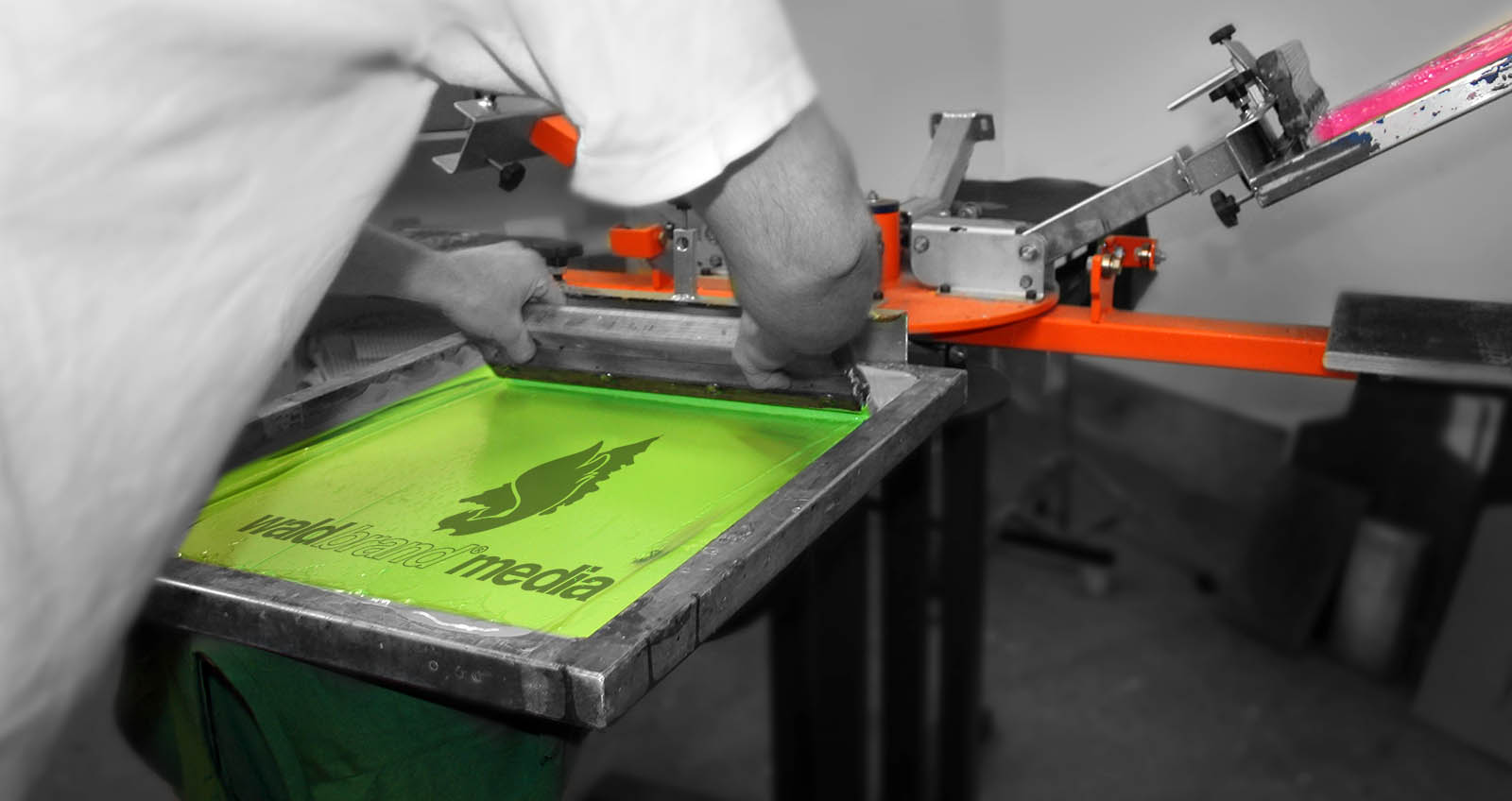 Siebdruck Workshop waldbrand ruhrgebiet grafik design textildruck print